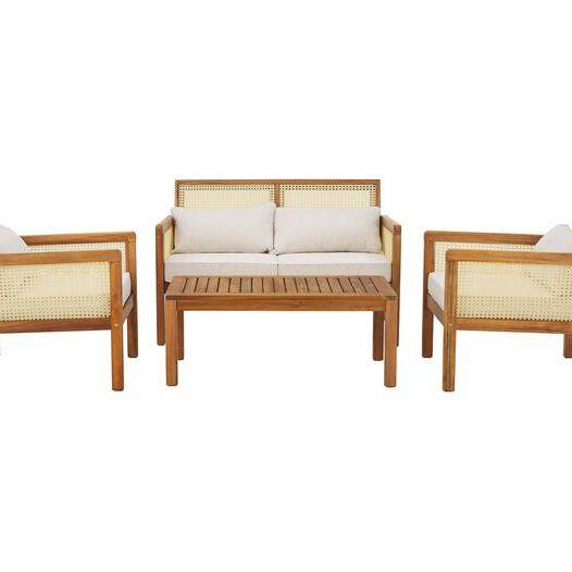 Garten-Lounge-Set Vie mit Wiener Geflecht, 4-tlg. aus der Westwing Collection